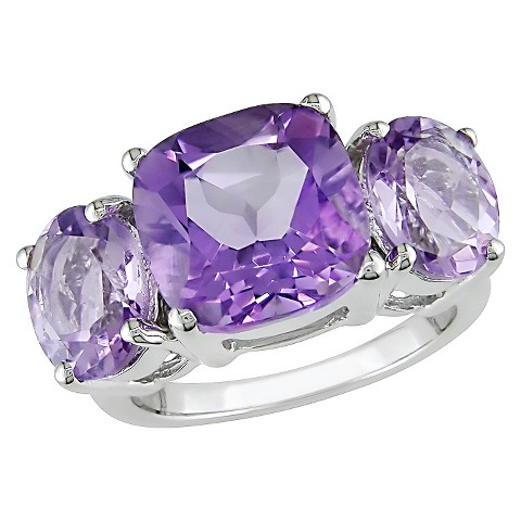 5 5/8 CT.T.W.  Pink Amethyst 4 Prong Ring in Sterling Silver