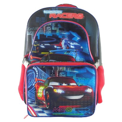 Disney Cars Backpack With Lunch - Black