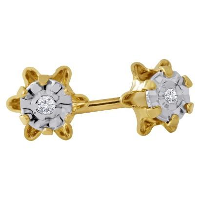 0.01 CT.T.W. Diamond Stud Earrings in 14K Yellow Gold