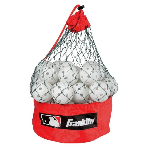 """Franklin Sports MLB 9"""" Indestruct-A-Balls™ with Bag - 50 Count"""
