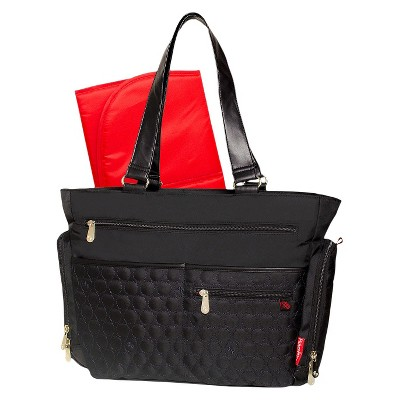Fisher-Price FastFinder Quilted Diaper Bag Tote - Black