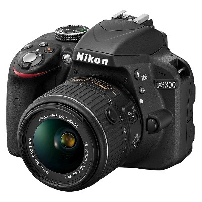 Nikon D3300 24.2MP Digital SLR Camera with 18-55mm Lens - Black