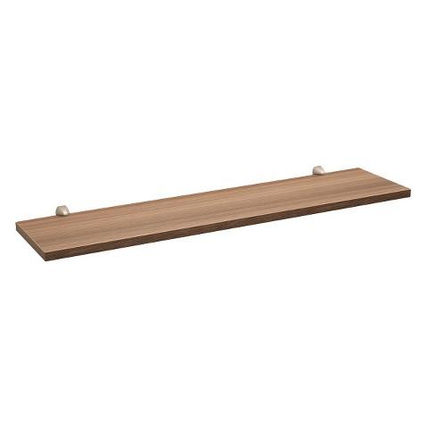 "31.5"" Driftwood Gray Wash Shelf w/Silver Supports"