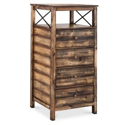 ECOM Mudhut Vertical Dresser 4 Drawers (Design 7)