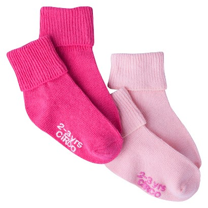 Circo® Infant Toddler Girls' 2 Pack Casual Socks - Pink