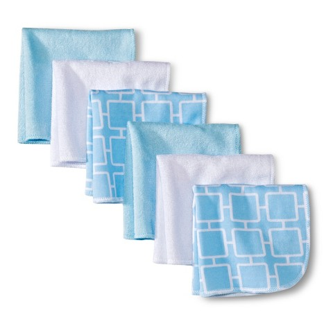 Circo® Newborn 6 Pack Washcloth Set - Blue/White