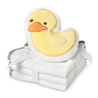 Circo® Newborn 3 Pack Wascloth Set with Scrubbie - White/Yellow