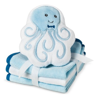 Circo® Newborn Boys' 3 Pack Wascloth Set with Scrubbie - Blue