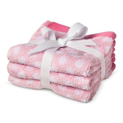 Circo® Newborn Girls' 3 Pack Washcloth Set - Pink