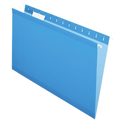 Pendaflex® Reinforced Hanging Folders with 1/5 Tab, Legal - Blue (25 Per Box)