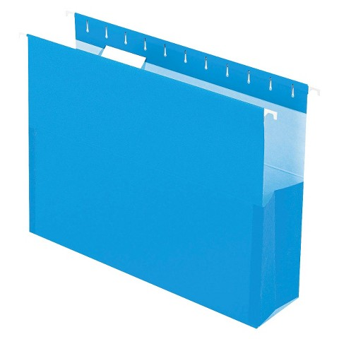 "Pendaflex® Surehook Reinforced Hanging Box Files, 3"" Expansion, Letter - Blue (25 Per Box)"