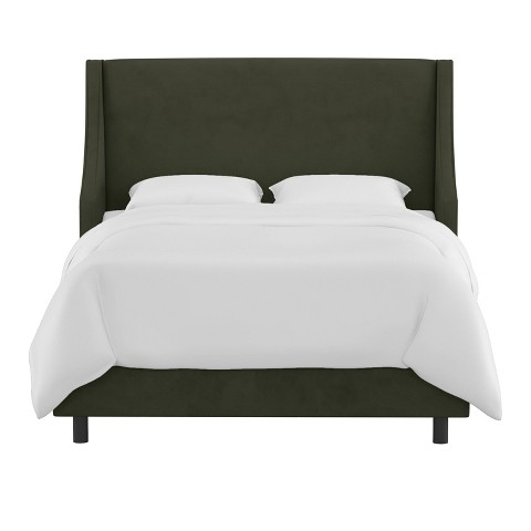 Skyline Custom Upholstered Swoop Wingback Bed