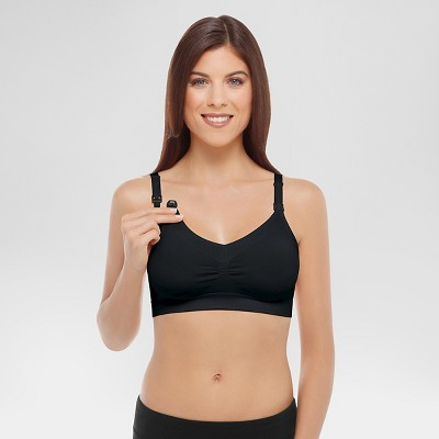 Medela Women's Nursing Seamless Bra Black M