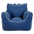 Circo™ Bean Bag Chair with Removable Cover - Navy Pinstripes