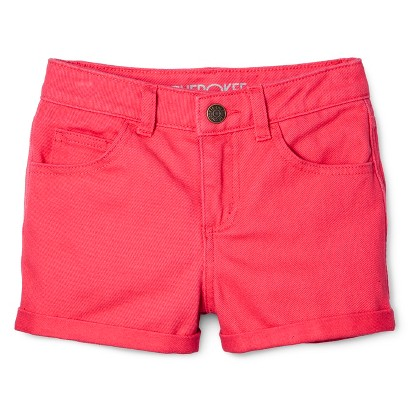 Girls' Jean Short - Washed Red