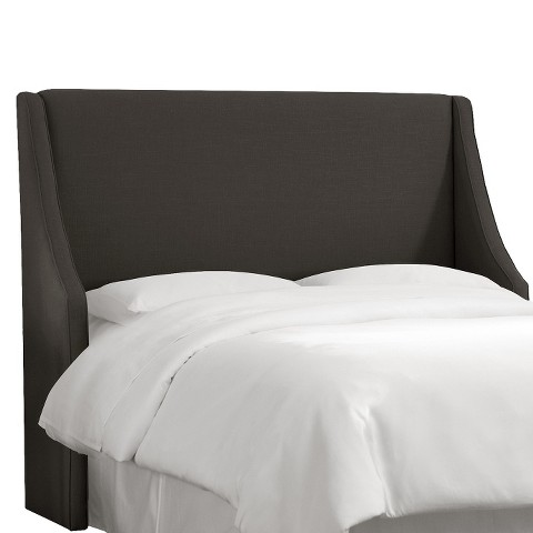Skyline Custom Upholstered Swoop Wingback Headboard