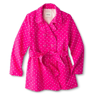 Girls' Belted Polka Dot Trench Coat