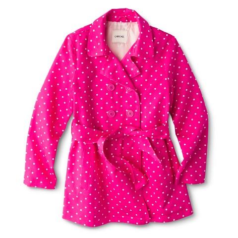 Girls' Belted Polka Dot Trench Coat