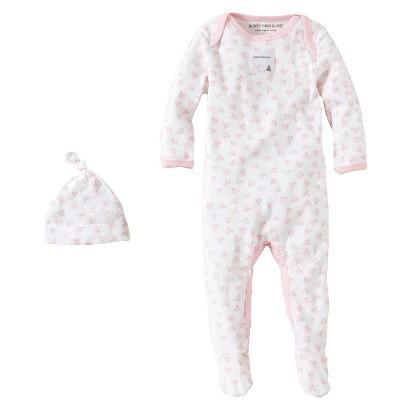 Burts Bees Baby™ Newborn Girls' Print Coverall and Hat - Blossom