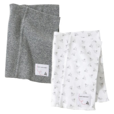 Burt s Bees Baby™ Newborn Heather Grey Infant Burp Cloth Set