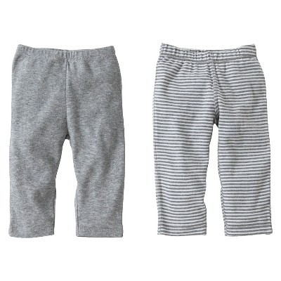 Burts Bees Baby™ Newborn Neutral 2 Pack Pants - Grey 0-3 M