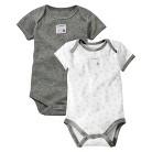 Burts Bees Baby™ Newborn Neutral 2 Pack Short-sleeve Bodysuit