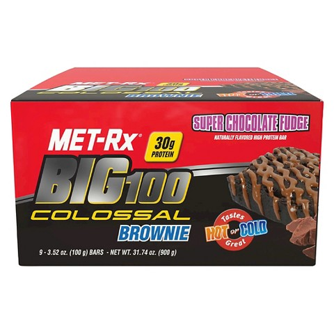MET-Rx® Big 100 Colossal Brownie Super Chocolate Fudge High Protein Bar - 12 Count
