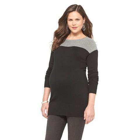 Maternity Long Sleeve Color block Sweater-Liz Lange® for Target®