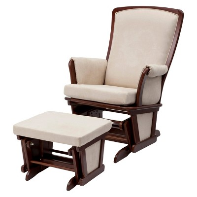Delta Haven Glider and Ottoman Set - Espresso