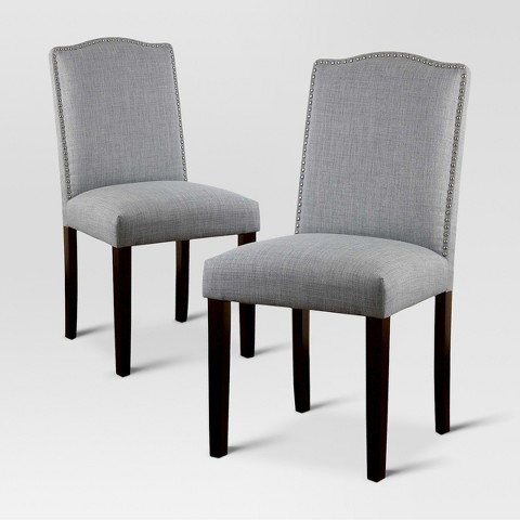 Camelot nailhead dining chair threshold target Target dining chairs