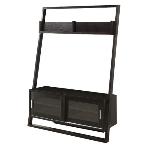 Monarch Specialties Ladder TV stand - Cappuccino