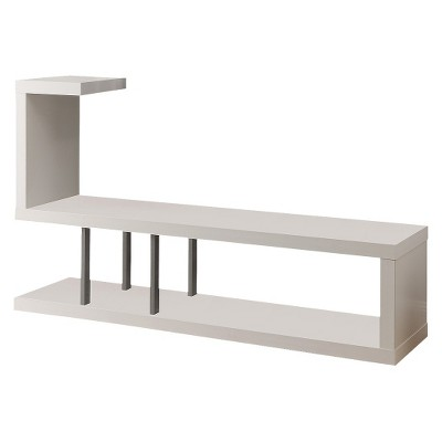 "Modern Hollow Core Tv Stand - White (60"") - Monarch Specialties"