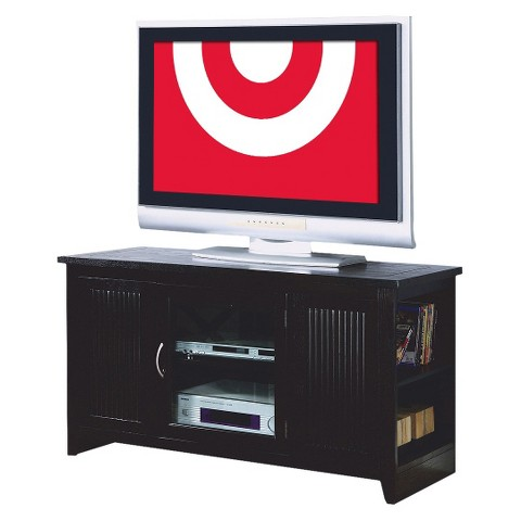 Monarch Specialties TV Stand with Storage Cabinet - Cappuccino
