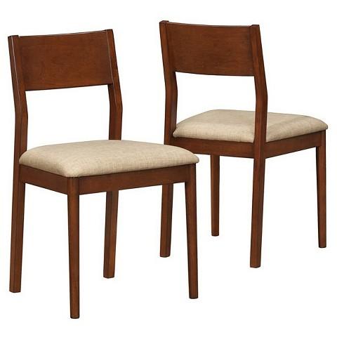 Monarch Specialties Modern Dining Chair Set - Oak (Set of 2)