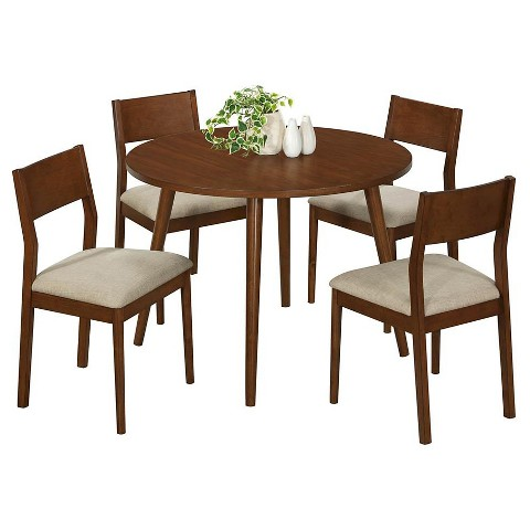 Monarch Specialties Modern Dining Table - Oak