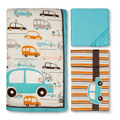 Vroom La La 3pc Crib Bedding Set