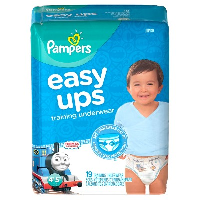 Pampers Easy Ups Boys Training Pants Jumbo Pack, Size 4T-5T (19 Count)