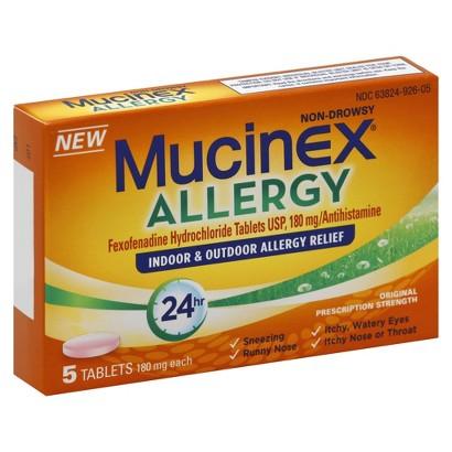 Mucinex Allergy 24 Hour Indoor & Outdoor Allergy Relief Tablets