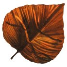 3-D Metal Reflective Wall Art Leaf