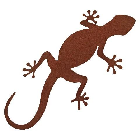 3-D Metal Wall Art Gecko