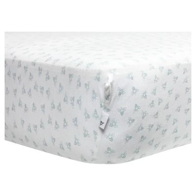 Burt's Bees Baby Organic Honeybee Print Knit Crib Sheet - Sky