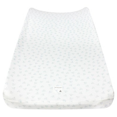 Burt's Bees Baby Organic Honeybee Print Knit Changing Pad Cover - Blue