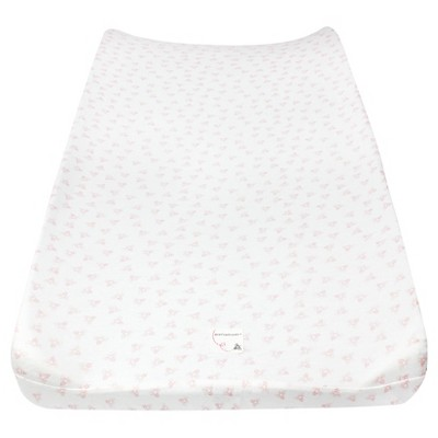 Burt's Bees Baby Organic Honeybee Print Knit Changing Pad Cover - Pink