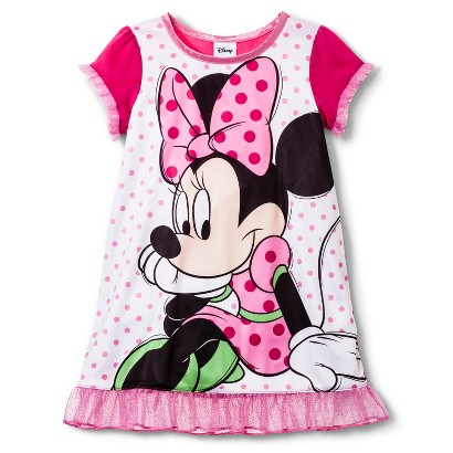 Disney® Minnie Mouse Toddler Girls' Short-Sleeve Nightgown