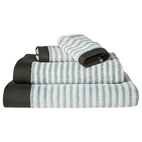 Nate Berkus™ Pinstipe Bath Towels - Gray/Aqua