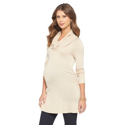 Maternity  Side Ruched Cowl Sweater-Liz Lange® for Target®