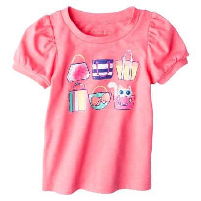 Cherokee® Infant Toddler Girls' Puff Sleeve Beach Bag Tee