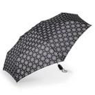 Totes Compact Medallion Pattern Umbrella - Black/White