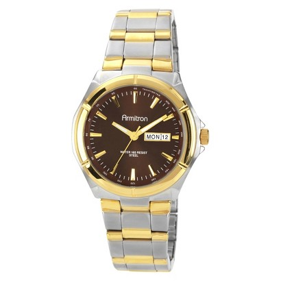Men's  Armitron Stainless Steel Two-tone Dress Watch - Gold/Silver