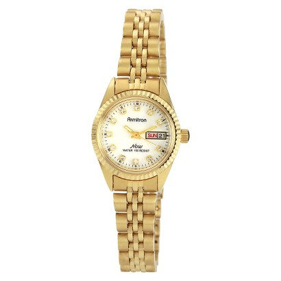 Women's Armitron NOW Women's Armitron NOW Swarovski Crystal Accented Watch - Gold